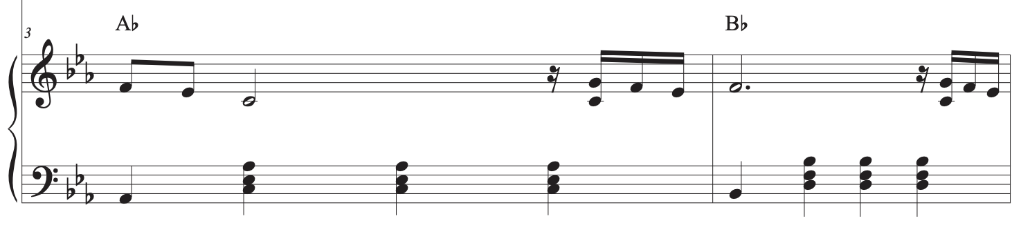 how to play cardigan line two