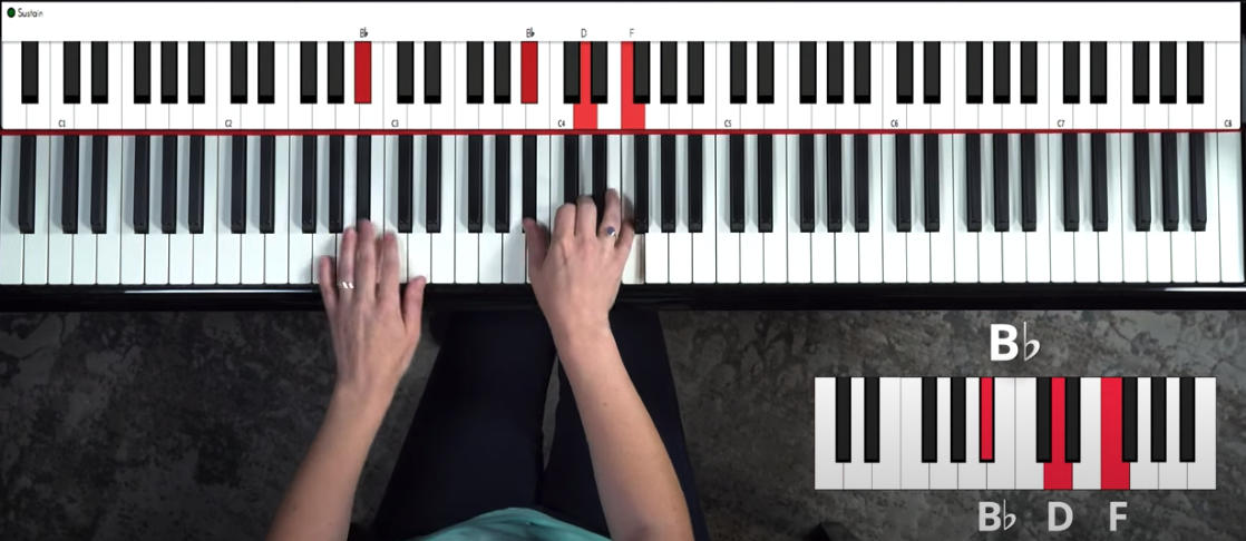 Faded piano tutorial - Bb major