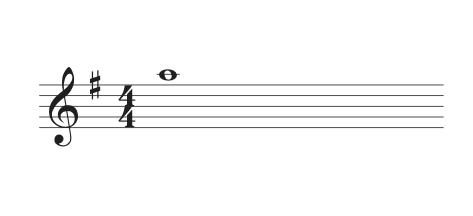 Treble clef ledger line
