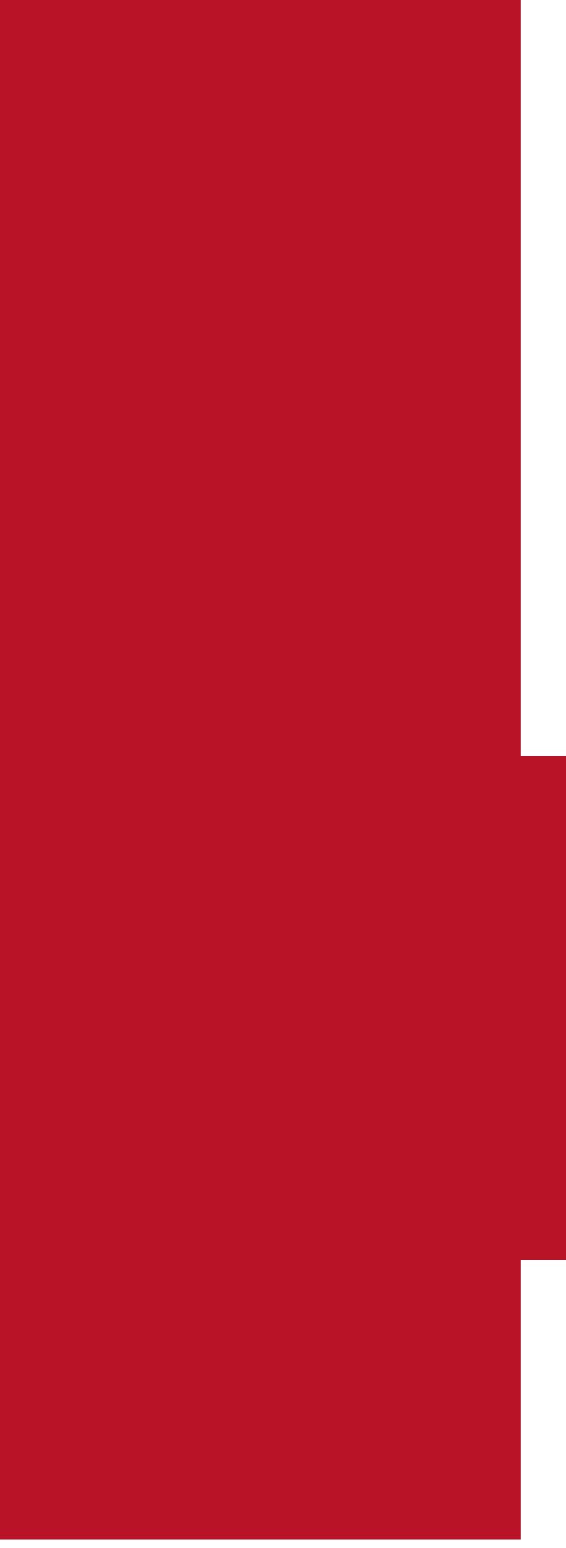 Treble clef in dark red.
