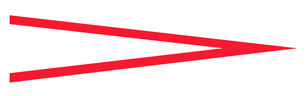 Decrescendo symbol (greater than symbol opened towards the left) in red.